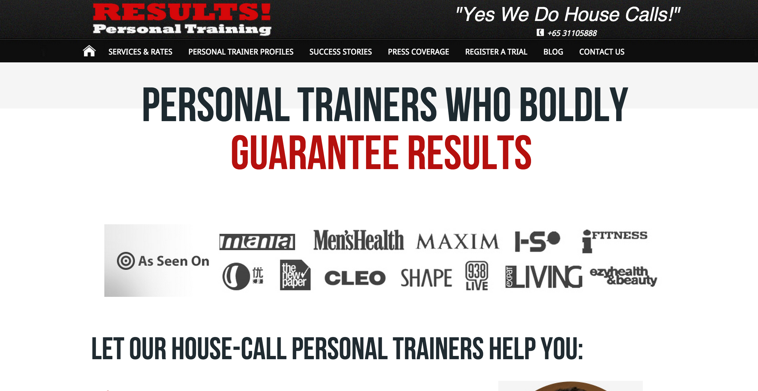 Personal Trainer Your Doorstep Results Personal Training Singapore