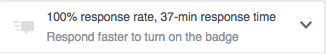 facebook page response time